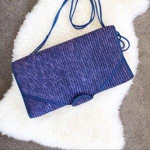 Vintage Woven Purse • Royal Blue